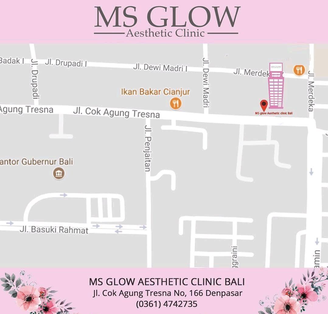 alamat klinik ms glow bali