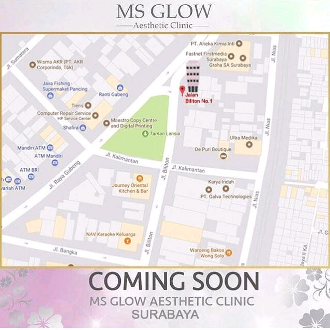 alamat klinik ms glow surabaya