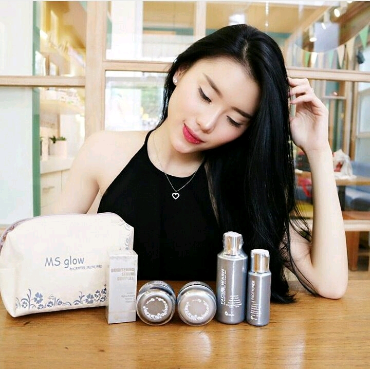 paket whitening dan serum ms glow