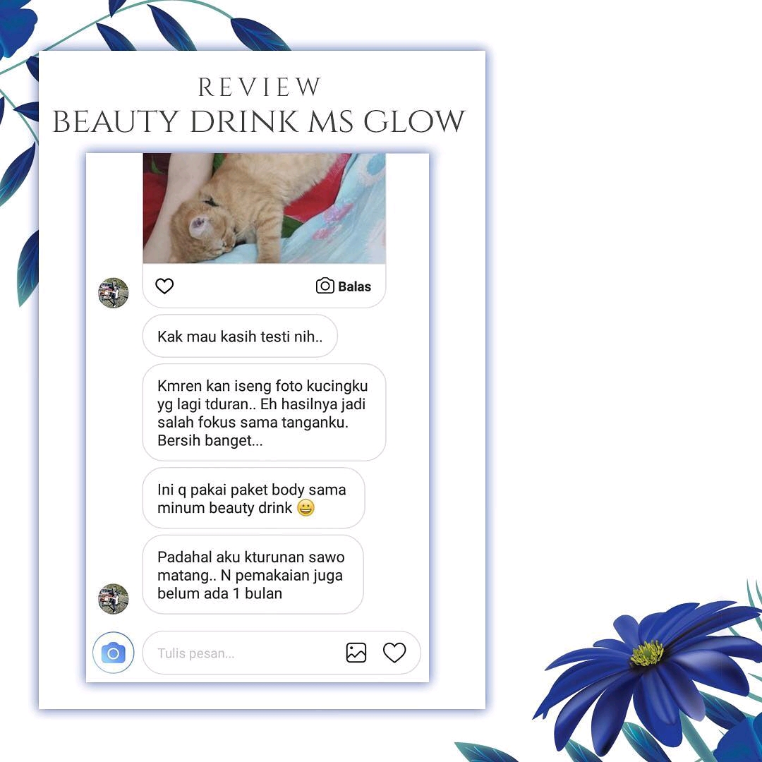 Kulit Putih Alami Dengan Beauty Drink MS Glow