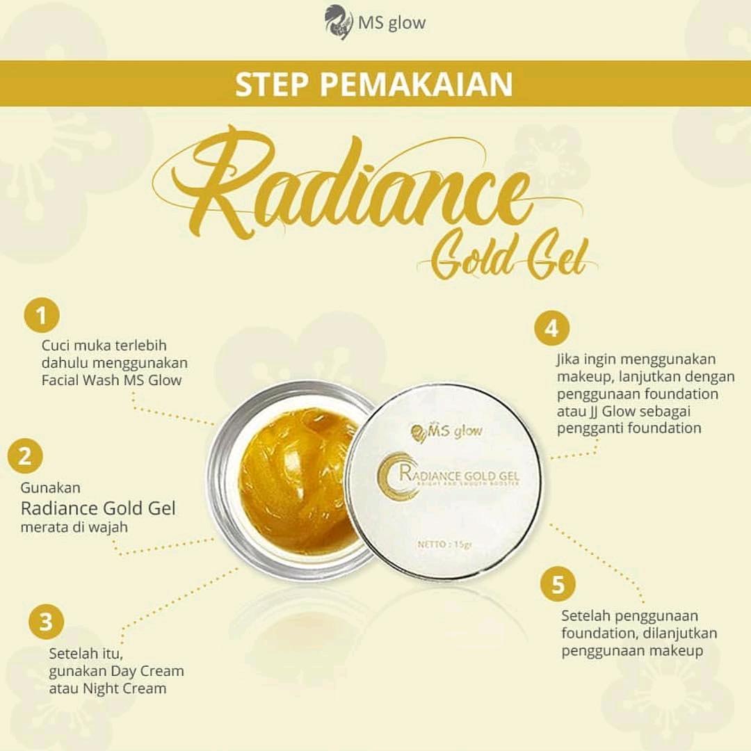 Cara Pakai Radiance Gold Gel