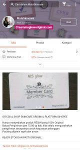 Akun Shopee Ms Glow SKincare