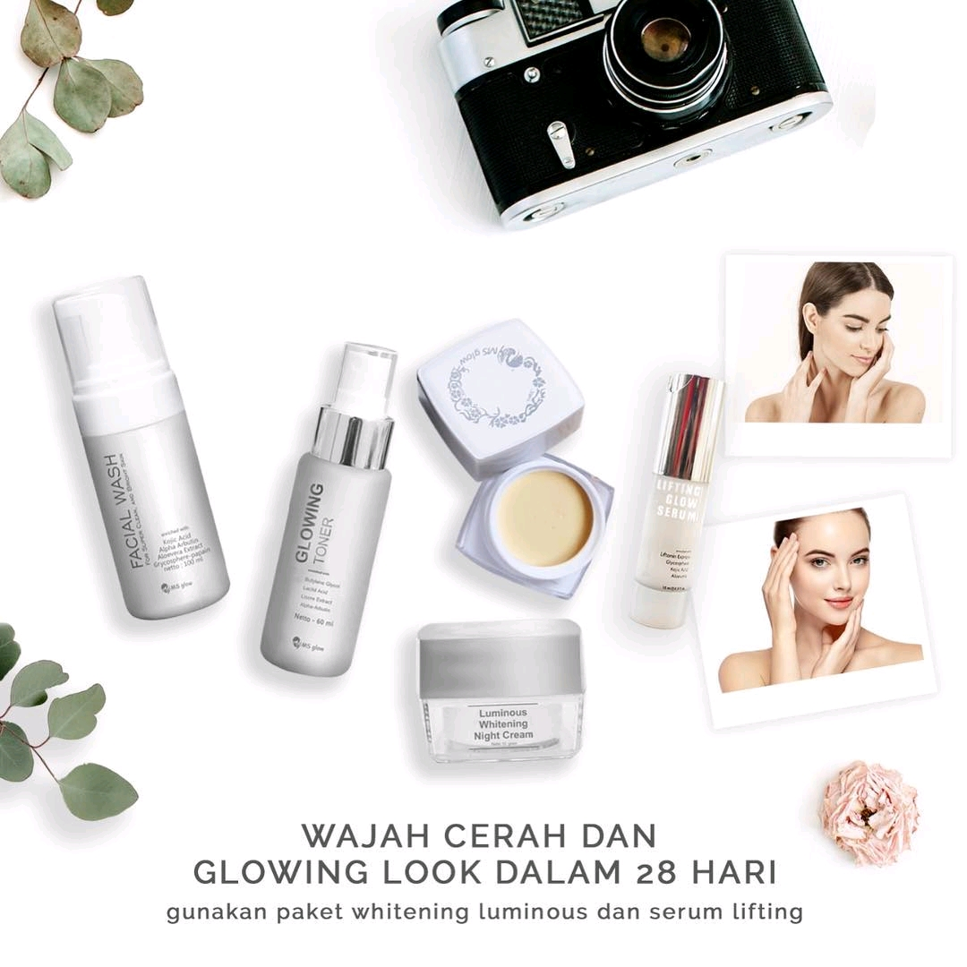 Paket Luminous Ms Glow Dengan Serum Lifting