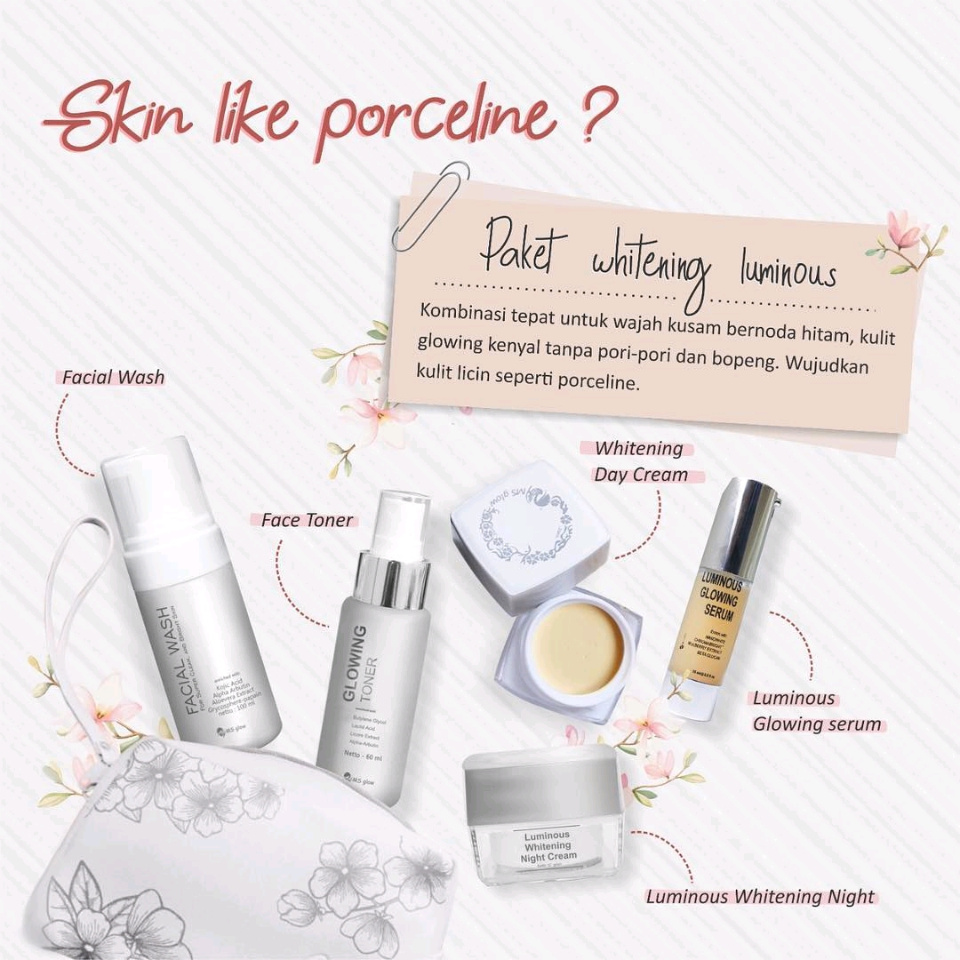 Paket Luminous Ms Glow Dengan Serum Luminos