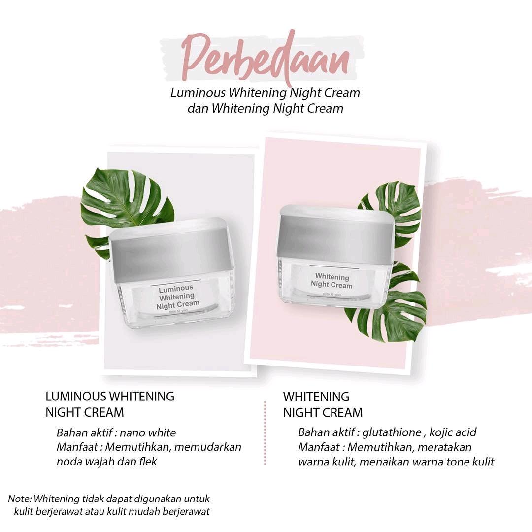 Perbedaan Paket whitening Dengan Luminous