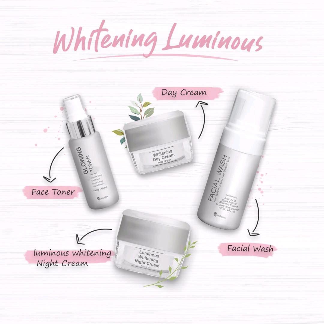 Review Paket Whitening Luminous Ms Glow Manfaat Kandungan Dan Harga Ms Glow Skincare Official