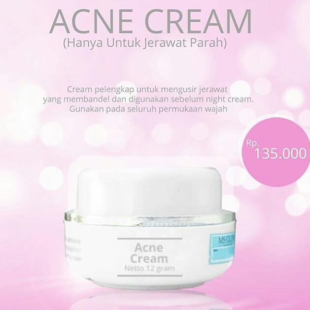 acne cream ms glow