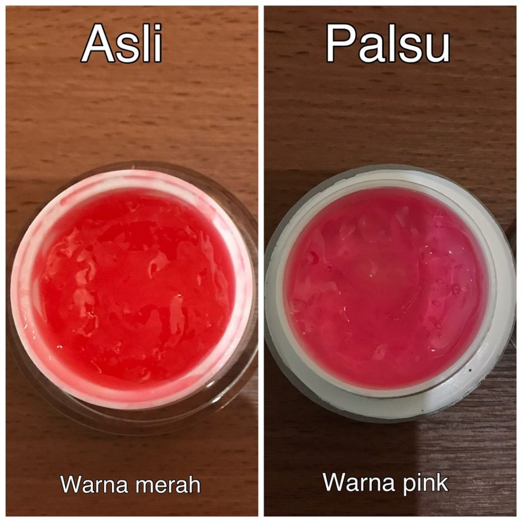 perbedaan red jelly asli dan palsu