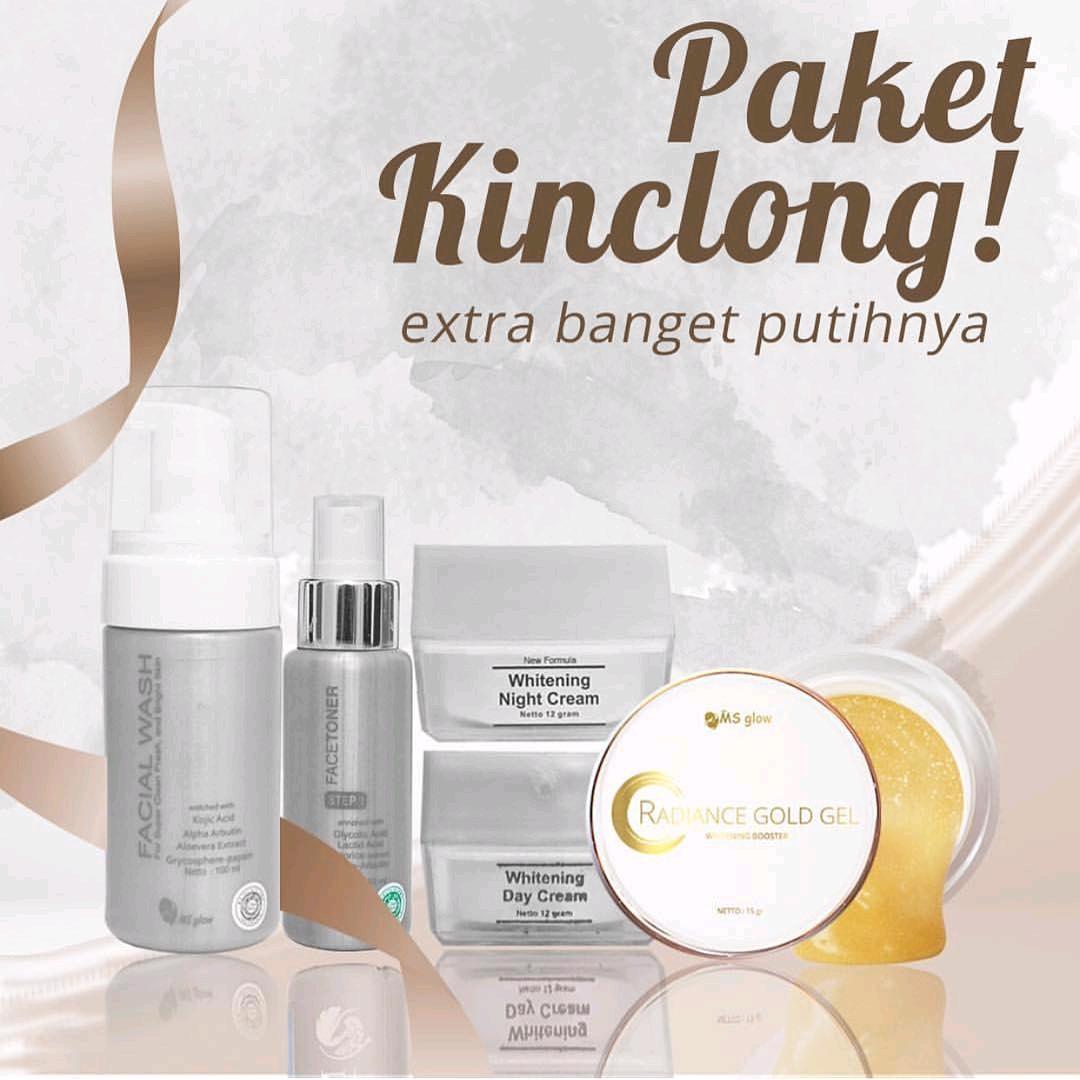 Official Distributor Resmi Pratista Skincare Aman Bpom: Paket Kinclong Whitening Series Dan Radiance Gold