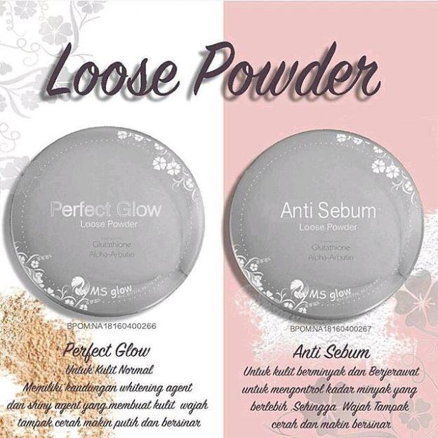 bedak ms glow loose powder