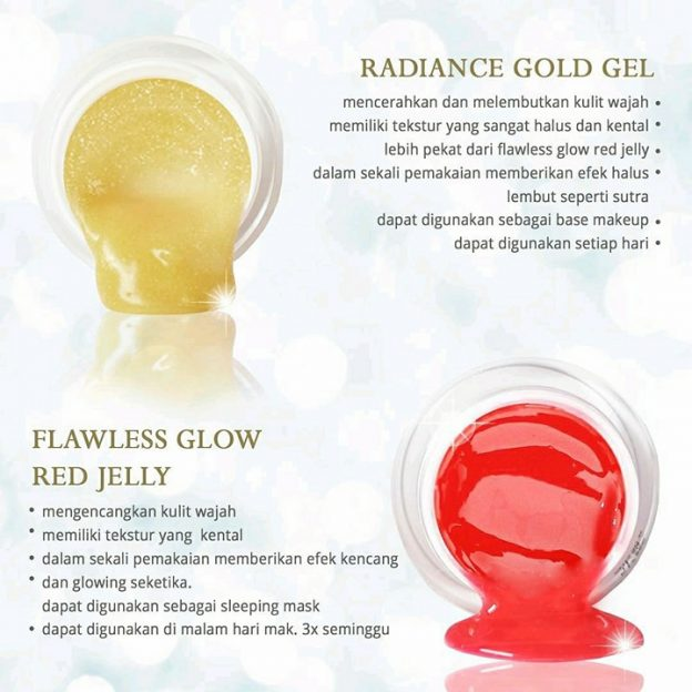 perbedaan radiance gold gel dan red jelly