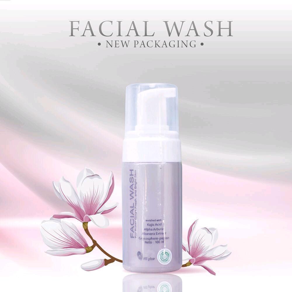 Kemasan Baru Facial Wash Ms Glow