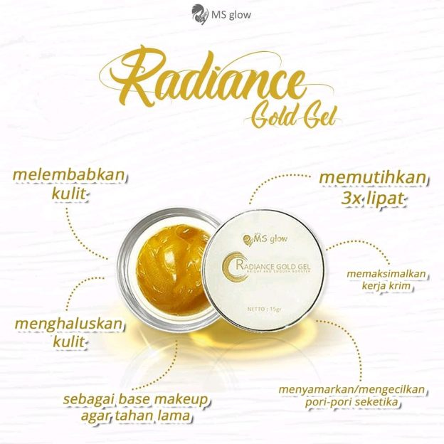 Manfaat Radiance Gold gel Ms Glow