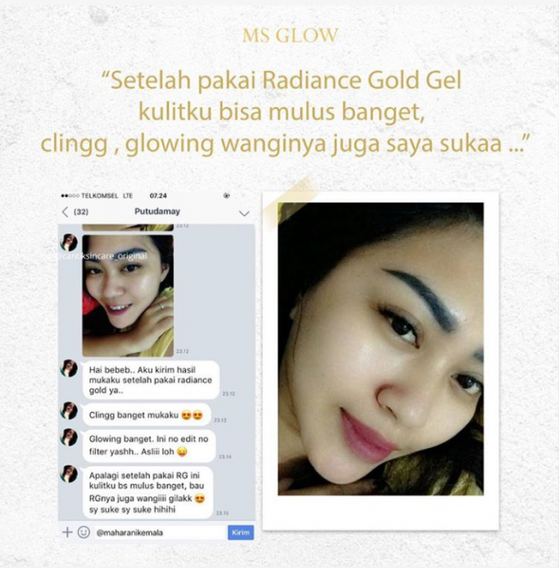 Real Testimoni Radiance Gold Gel
