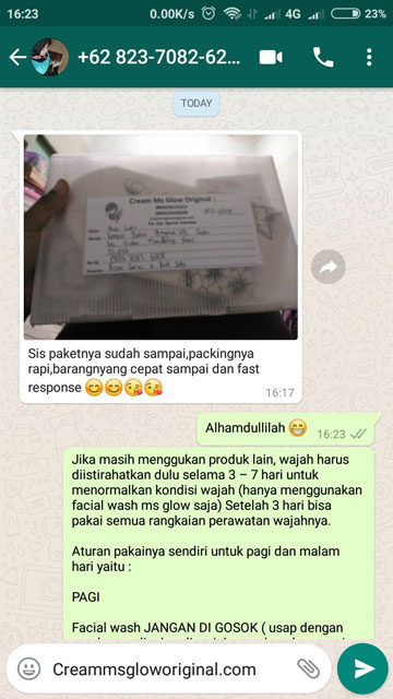 Paket Ms Glow Packing Rapi