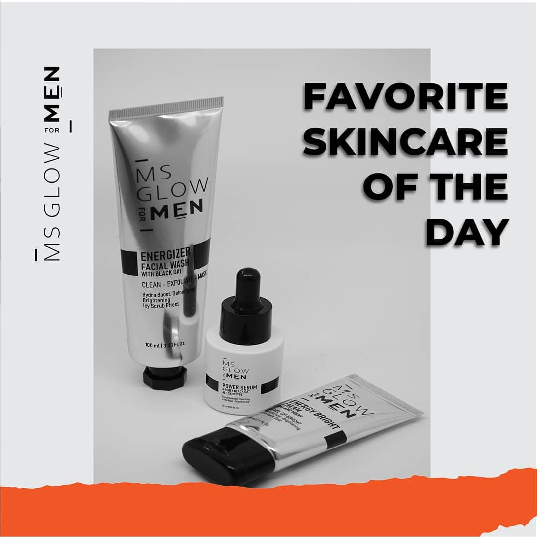 Ms Glow For Man Favorite Skincare | Ms Glow Skincare Official